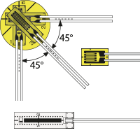 Hochtemperatur-Folien-DMS der KFU-, KH- und KFH-Serie