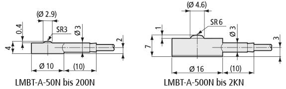 Abmessungen der LMBT-A- und LMB-A-Serie